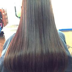 ブラウン グラデーションカラー ロング 外国人風 ヘアスタイルや髪型の写真・画像