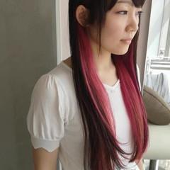 大人かわいい ラベンダーピンク ピンク ロング ヘアスタイルや髪型の写真・画像