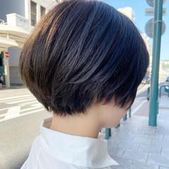 切りっぱなしボブ ショートヘア ハンサムショート ショート ヘアスタイルや髪型の写真・画像