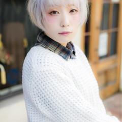 ゆるふわ ショート 外国人風 冬 ヘアスタイルや髪型の写真・画像