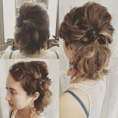 外国人風 ヘアアレンジ ボブ くせ毛風 ヘアスタイルや髪型の写真・画像