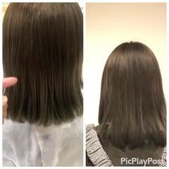 ベージュ ヌーディベージュ ミルクティーベージュ フェミニン ヘアスタイルや髪型の写真・画像