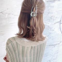 オルチャン ミディアム ヘアクリップ 不器用さん向け簡単アレンジ ヘアスタイルや髪型の写真・画像
