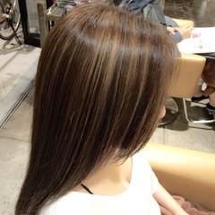 ストリート アッシュ セミロング 3Dカラー ヘアスタイルや髪型の写真・画像