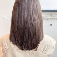 モテボブ ミディアム ミディアムレイヤー ナチュラル ヘアスタイルや髪型の写真・画像
