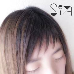 色気 斜め前髪 オン眉 ショートバング ヘアスタイルや髪型の写真・画像