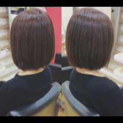 髪質改善カラー ミニボブ 髪質改善 ショートボブ ヘアスタイルや髪型の写真・画像