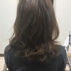 パーマ デジタルパーマ ミディアム 大人かわいい ヘアスタイルや髪型の写真・画像