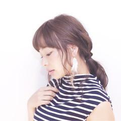 ショート ピュア モテ髪 セミロング ヘアスタイルや髪型の写真・画像
