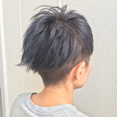 外ハネ 外国人風 ショート 坊主 ヘアスタイルや髪型の写真・画像