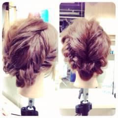 愛され モテ髪 編み込み コンサバ ヘアスタイルや髪型の写真・画像