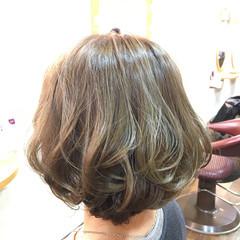 ショートボブ フェミニン 大人女子 ワンカール ヘアスタイルや髪型の写真・画像