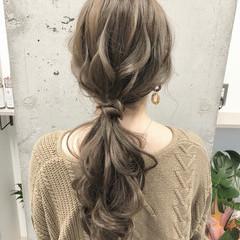 ローポニー ナチュラル ヘアアレンジ オリージュ ヘアスタイルや髪型の写真・画像