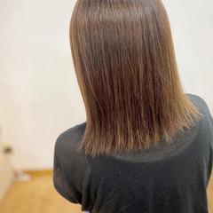 外ハネボブ 髪質改善 縮毛矯正 グレージュ ヘアスタイルや髪型の写真・画像