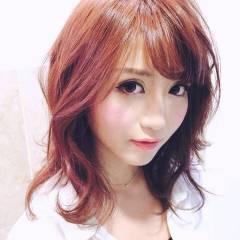 セミロング フェミニン 大人かわいい モテ髪 ヘアスタイルや髪型の写真・画像