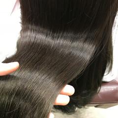 ロング ナチュラル パーマ ストレート ヘアスタイルや髪型の写真・画像
