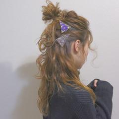 ゆるふわ ショート ハーフアップ 大人かわいい ヘアスタイルや髪型の写真・画像