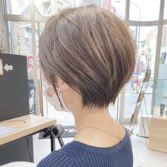 横顔美人 ショート ショートヘア 小顔ショート ヘアスタイルや髪型の写真・画像