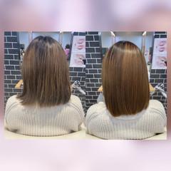 ストレート ミディアム トリートメント モテ髪 ヘアスタイルや髪型の写真・画像