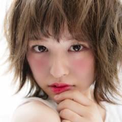 ヘアアレンジ 外ハネ ボブ おフェロ ヘアスタイルや髪型の写真・画像