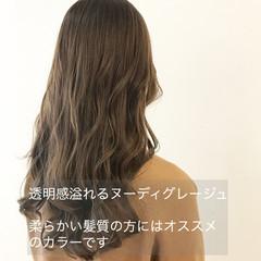透明感カラー 大人かわいい ロング 似合わせカット ヘアスタイルや髪型の写真・画像