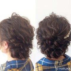 編み込み ヘアアレンジ ゆるふわ ストリート ヘアスタイルや髪型の写真・画像