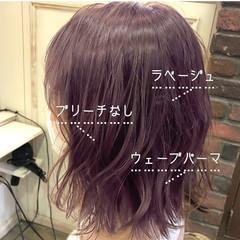 ラベンダーアッシュ ラベンダーグレージュ ラベンダーカラー ピンクラベンダー ヘアスタイルや髪型の写真・画像