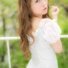 外国人風 ロング 大人かわいい フェミニン ヘアスタイルや髪型の写真・画像