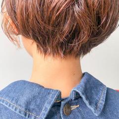 ベリーショート ハイライト ショートボブ ショートヘア ヘアスタイルや髪型の写真・画像