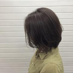 ボブ ミディアム 透明感 ナチュラル ヘアスタイルや髪型の写真・画像