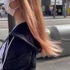 ヘアカラー ナチュラル ピンクベージュ 透明感カラー ヘアスタイルや髪型の写真・画像