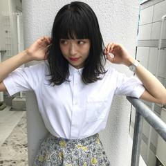 女子会 ミディアム ナチュラル 夏 ヘアスタイルや髪型の写真・画像