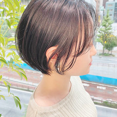 デート ナチュラル ベリーショート ショート ヘアスタイルや髪型の写真・画像