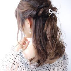 夏 大人かわいい コンサバ 簡単ヘアアレンジ ヘアスタイルや髪型の写真・画像