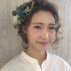 ヘアアレンジ フェミニン ミルクティー ふわふわ ヘアスタイルや髪型の写真・画像