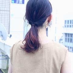 ショート ストレート フェミニン 簡単ヘアアレンジ ヘアスタイルや髪型の写真・画像