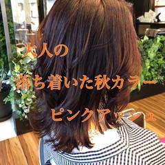 秋冬スタイル 大人ミディアム ミディアム 外ハネボブ ヘアスタイルや髪型の写真・画像