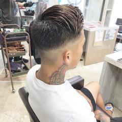 メンズカット ナチュラル スキンフェード ショート ヘアスタイルや髪型の写真・画像
