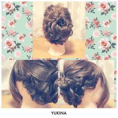 結婚式 ゆるふわ 編み込み 大人かわいい ヘアスタイルや髪型の写真・画像