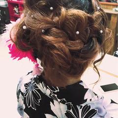 ヘアアレンジ アップスタイル 和装 デート ヘアスタイルや髪型の写真・画像