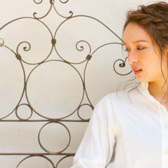 ショート グラデーションカラー 簡単ヘアアレンジ アッシュ ヘアスタイルや髪型の写真・画像
