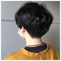 ショートボブ 刈り上げショート ショートパーマ マッシュショート ヘアスタイルや髪型の写真・画像