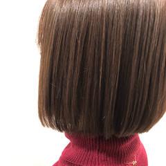 ミニボブ レイヤーボブ ナチュラル まとまるボブ ヘアスタイルや髪型の写真・画像