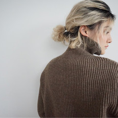 ミルクティーベージュ ショート 簡単ヘアアレンジ ボブ ヘアスタイルや髪型の写真・画像