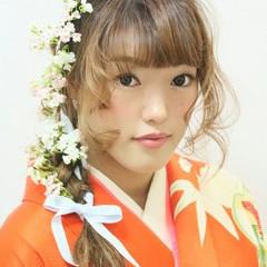ヘアアレンジ 簡単ヘアアレンジ ゆるふわ 謝恩会 ヘアスタイルや髪型の写真・画像