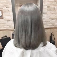 ミディアム 外国人風カラー ストリート シルバー ヘアスタイルや髪型の写真・画像
