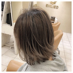 モード バレイヤージュ ハイライト 外国人風カラー ヘアスタイルや髪型の写真・画像