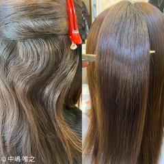 艶髪 クセ セミロング アッシュ ヘアスタイルや髪型の写真・画像