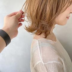 切りっぱなしボブ ボブ アンニュイほつれヘア 簡単ヘアアレンジ ヘアスタイルや髪型の写真・画像
