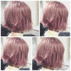 フェミニン ヘアアレンジ ミディアム ガーリー ヘアスタイルや髪型の写真・画像